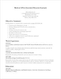 Sample Healthcare Resume Objectives Executive Summary Example Template Medical Templates Lovely Receptionist Or Su