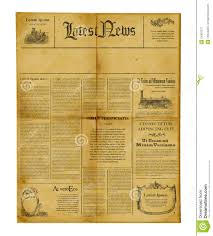 Download Antique Newspaper Template Stock Image Of Information