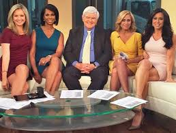 Former House Speaker Newt Gingrich Joins The Leggy Ladies Of Fox News Outnumbered