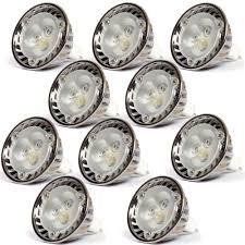 lot of 10 12v 3w dimmable mr16 led light bulbs torchstar