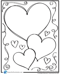 Valentines Day Coloring Pages Simple Valentine For Preschool