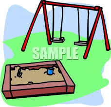 Playground Toys Sandbox And Swing Set
