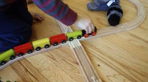 making a wooden toy train crossing make