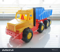Toy Ttipper Truck Industrial Vehicle Plastic Stock Photo (Safe To ...