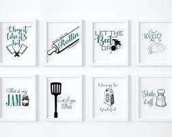 Kitchen Printable Wall Art Posters Set Of 8 Size 8x10 Decor