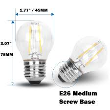 12v 2w led g45 filament wire light bulb rope l 12vmonster