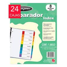 Wilson Jones Separadores 8 Divisiones Tamaño Carta Costco Mexico
