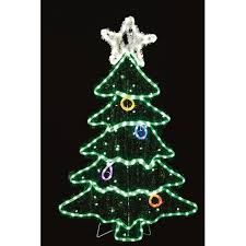Premier Decorations Soft Glow LED Rope Light Christmas Tree With Star