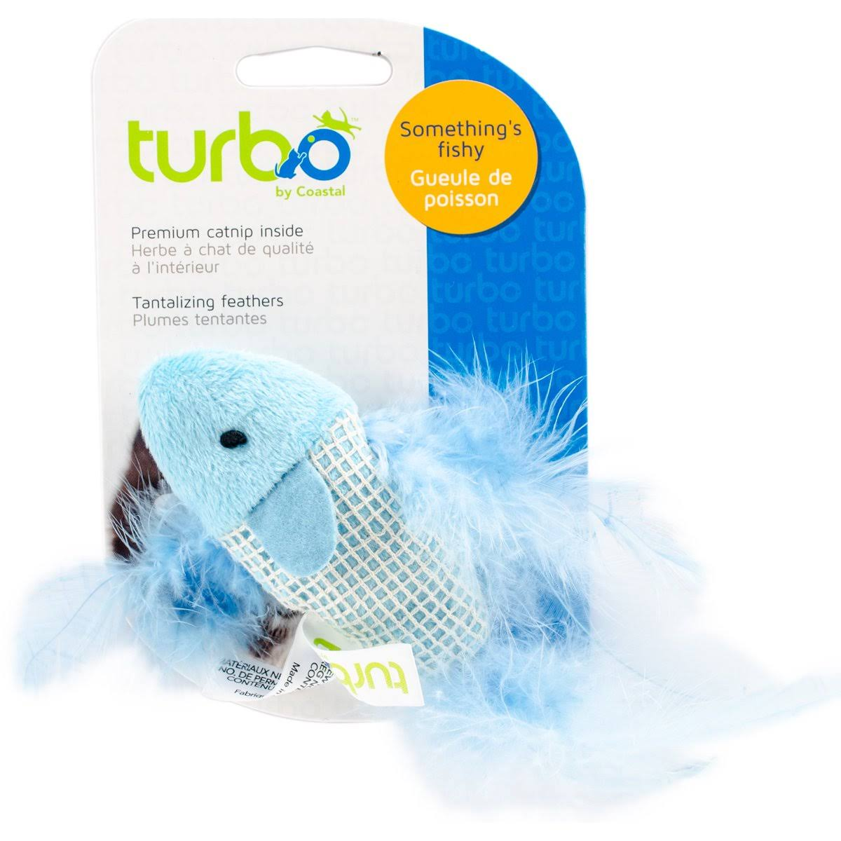 Turbo Random Fun Cat Toy - Feather Fish, 5.25""