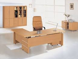 The Benefits Of L Shaped Home Office Desks Design Idea With Brown