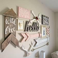 Boho Woodland Baby Girl Nursery · Girls Room Wall DecorDiy