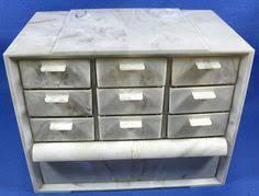Akro Mils Storage Cabinet by Vintage Akro Mils Pink Gray Plastic 10 Drawer Cabinet Box Crafts