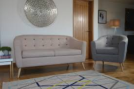 Hudson Coloured Button 2 Seater Sofa & Chair
