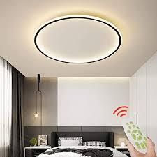 led deckenleuchte moderne dimmbare wohnzimmerle ring designer deckenle mit fernbedienung deckenle metall acryl beleuchtung schlafzimmer küche