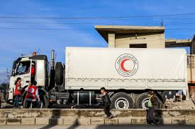 100 Eastern Truck And Trailer Syrian Red Crescent On Twitter Photos Humanitarian Aid Convoy