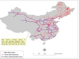 China Gas Pipes Vs Railroads Map