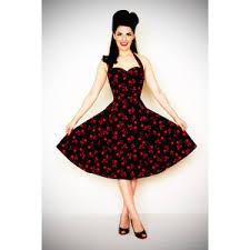 Heartbreaker 50s Style BadaBing Black Cherry Swing Dress