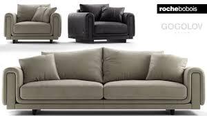 100 Roche Bobois Leather Sofa 129 Modeling ROCHE BOBOIS UNDERLINE Autodesk 3ds Max Marvelous Designer