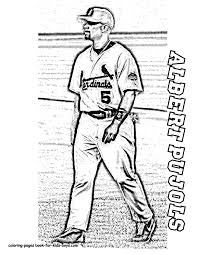 Print Pictures Albert Pujols Baseball Player At YesColoring