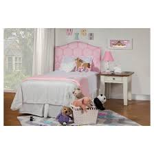 Diva Upholstered Twin Bed Pink by Twin Headboard Pink White Homepop Target