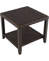 Halsted Wicker Patio Side Table