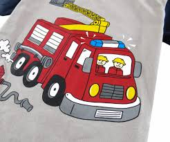 Pyjamas Kids Boys Fire Truck Pijama Chid Summer Clothes Set Children ...