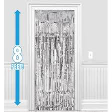 Foil Fringe Curtain Singapore by Amscan Dazzling Foil Metallic Curtain Silver 8 Ft X 3 Ft From