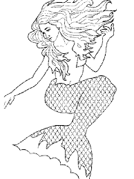 Print Mermaid Coloring Pages For Kids New On Plans Free Animal