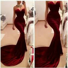 online buy wholesale red velvet evening dress from china red