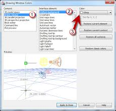 AutoCAD Drawing Window Colors