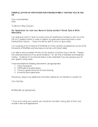 Letter Invitation For Uk Visa TemplateVisa Invitation Letter To A