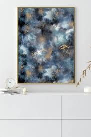 ninola design marmor in blau und gold gold poster idee