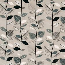 Fabrics For Curtains Uk by Autumn Leaves Curtain Fabric Sable Cheap Printed Curtain Fabric