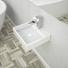 lordear rechteckiges waschbecken 53 3 x 40 6 cm badezimmerschrank rechteckig wandmontage weißes porzellan keramikgefäß waschbecken mit