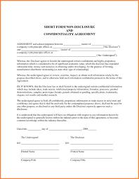 Mediun Size Of Non Disclosure Agreement Format Best 7 Generic Template Yi 456