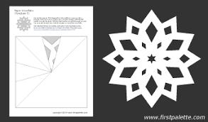 Paper snowflake template 5