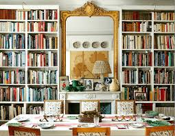 Via Cote De Texas Blog Dining Room With Library