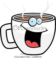 Coffee Smiling A Cartoon Cup Of And Happy
