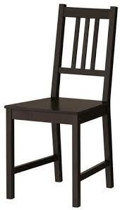ikea stefan stuhl in braunschwarz aus massivholz