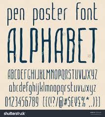 Home Decor Large Size Sans Serif Hand Drawn Elegant Pen Poster Minimal Font Alphabet Save