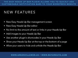 Easy Heads Up Bar — WordPress Plugins Sharepoint 2013 Page Top Topbar Plugin Interior Floating Bar Lawrahetcom Documentation For Be Wordpress Theme Created By Muffin Group Oceanwp Review A Free With Premium Features Wpcolt Moving The Below Logo Image In Redwood Solo Pine Visual Composer Exteions Addon Tekanewa Codecanyon Ticksy Prting Hemlock Responsive Blog Translatepress Build Your Next Multilingual Site Minutes Side Bar And Top Menu Items Are Missing When Using Chrome 28 Images Ews Review Honest Html By Plugin Html5