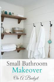 Pinterest Bathroom Ideas On A Budget by Best 25 Small Bathroom Makeovers Ideas On Pinterest Small