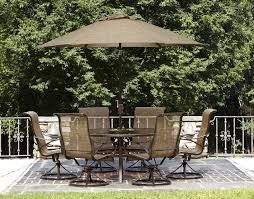 7 piece outdoor dining set with swivel chairs home outdoor