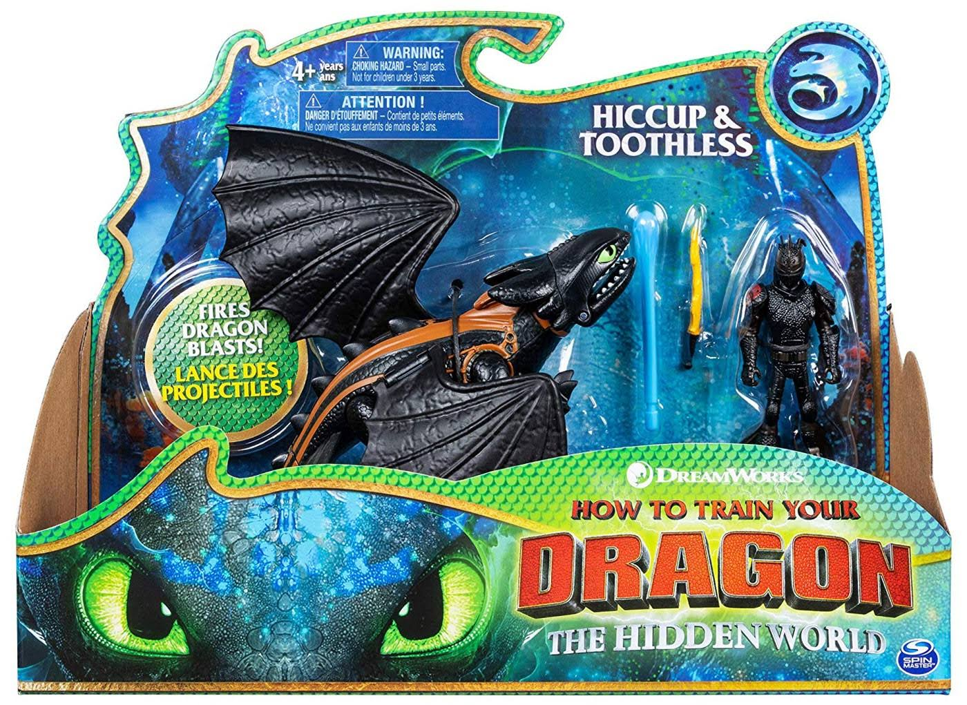 Spin Master How to Train Your Dragon The Hidden World Hiccup Toothless Action Figures