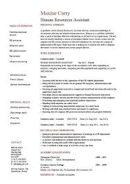 Human Resources Assistant Resume HR Example Sample Employment Work Duties Cover Letter