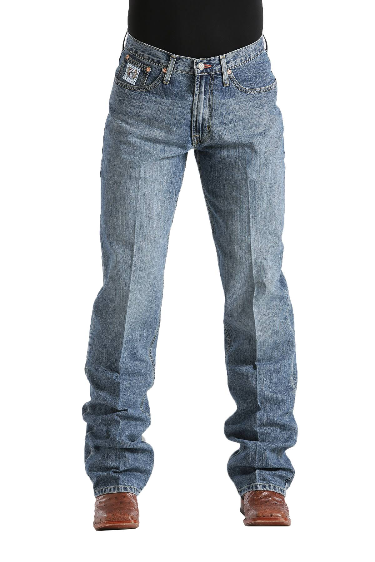 Cinch Men's White Label Relaxed Fit Jeans - Light Stone Wash, 40W x 34L