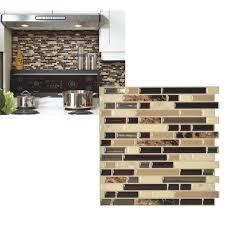 Smart Tiles Mosaik Multi by Smart Tiles Original Peel U0026 Stick Backsplash Wall Tile Walmart Com