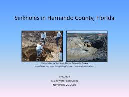 Sinkholes Alachua County Fl by Ppt Sinkholes In Hernando County Florida Powerpoint