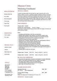 Marketing Coordinator Resume Sales Example Sample Advertising
