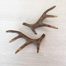 Carved Wood Antler Decorations